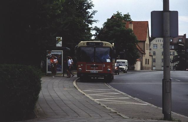 Bus Linie 45, Carl von Linde Strasse, Nürnberg, Mai 1989.