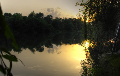 drava rivers mariborarea sunset reflection