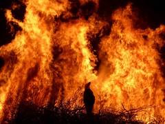 Burning Judas, Chora Sfakion (Crete) Easter 2016