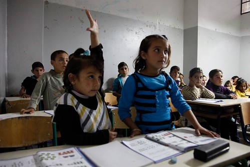 Syrian refugee children in a Lebanese school classroom | by DFID - UK Department for International Development