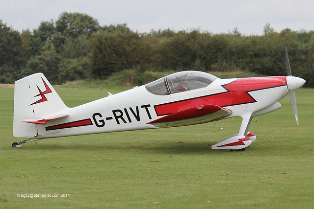 G-RIVT - 1996 build Vans RV-6, arriving at Sywell for the 2014 LAA Rally