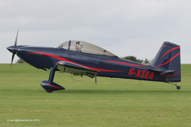 G-XSEA - 2005 build Vans RV-8, arriving at Sywell for the 2014 LAA Rally