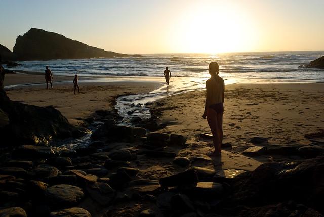 Por de sol em Zambujeira