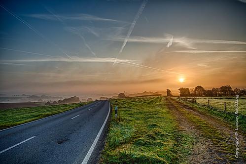 street morning sunrise luxembourg limpach type misty