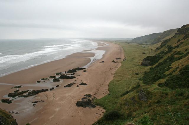 The beach at St Cyrus