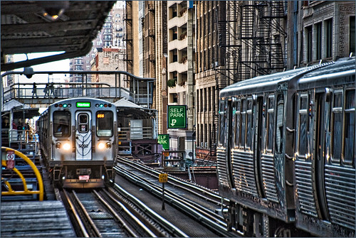 The Wabash 'L' Station -- The Loop Chicago (IL) September 2014 | by Ron Cogswell