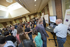 170 UMD Language Scientists from 14 departments and centers got together for our annual kickoff event. These pictures are from the Research Fair that was sandwiched between talks and our Science is Social party.