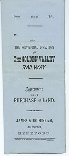 Golden Valley railway  Agreement to purchase of land 1876 | by ian.dinmore