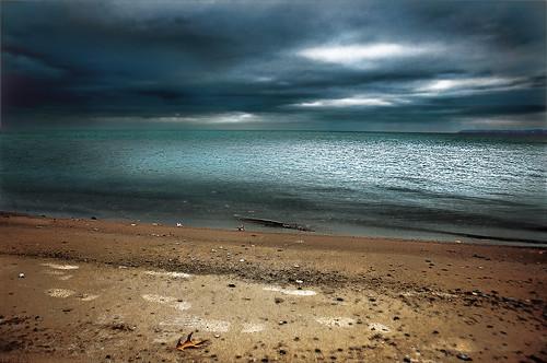 sky usa canada water clouds mi leaf oak sand autum cloudy michigan lakehuron greatlake lighthousepark porthuron
