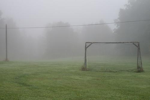 morning autumn mist cold green fall net nature field grass fog landscape 50mm countryside football goal nikon europe post sweden soccer pitch scandinavia 50mmf14 d610 mariefred södermanland hästnäs