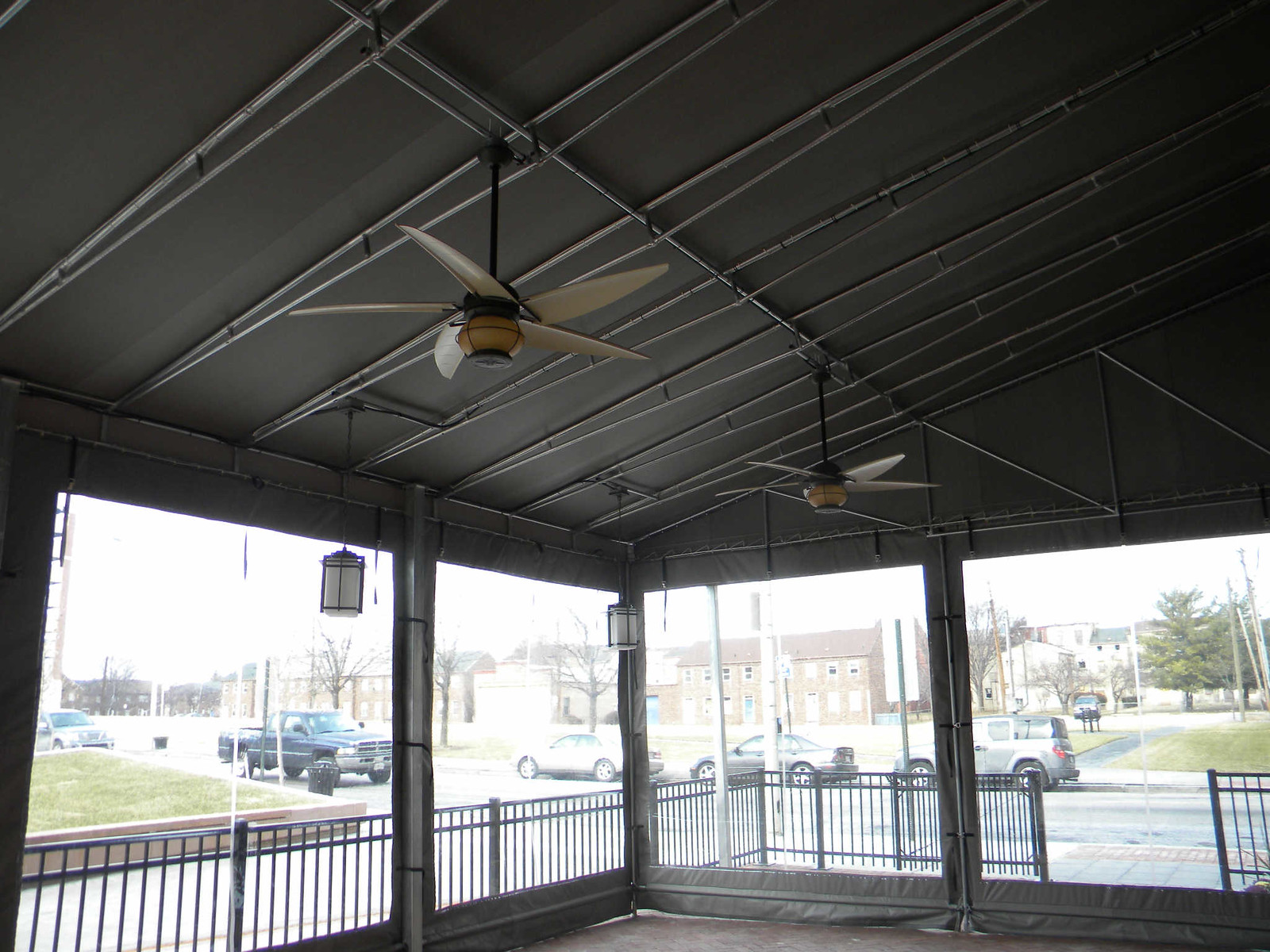Awnings with Ceiling Fans