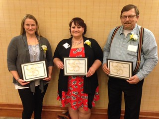 Wed, 04/12/2017 - 19:55 - Outstanding Adult Student honorees, left to right: Melinda Pitcher, Christi Lotempio and John Burke.