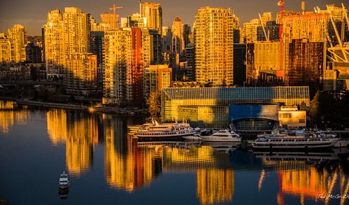 2017 bc bcplace cropped falsecreeksunrise nikon nikond750 nikonfx tedmcgrath tedsphotos vancouver vancouverbc vancouvercity vignetting reflection waterreflection sunrise eastfalsecreek falsecreekeast boats shadows constructioncranes crane seawall boat moored cans2s canada