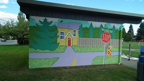 Woodcote Park Mural