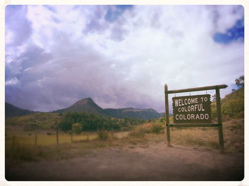 mountains blanco rain sign landscape colorado state border rocky springs welcome pagosa