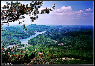 Lake Lure, NC - from top of Chimney Rock State Park