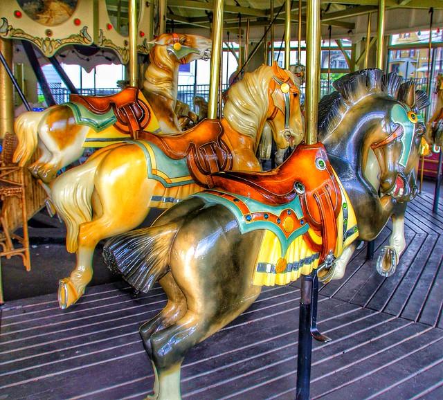 Endicott Ny ~ Brome County ~ George W. Johnson Park Carousel ~ Historical