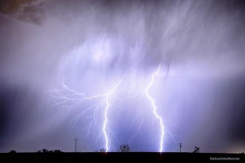 blue sky nature rain landscapes colorado lightning lightening storms electrical monsoons thunderstorms oilwells pumpjack lightningbolts coloradothunderstorms jamesinsogna