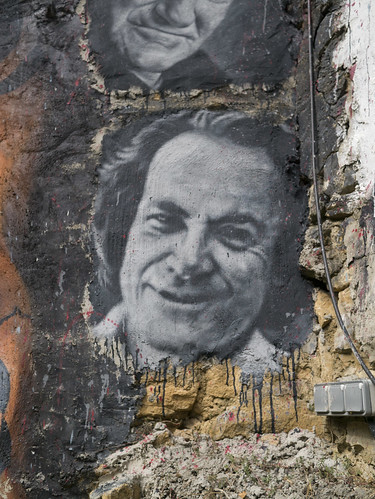 Richard Feynman, painted portrait P1040046 | by Abode of Chaos