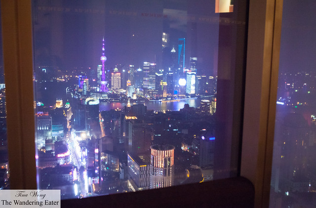 The view of The Bund from our private room in the bar