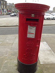 Terrace Road, Buxton - red post box - ER VII - SK17 5