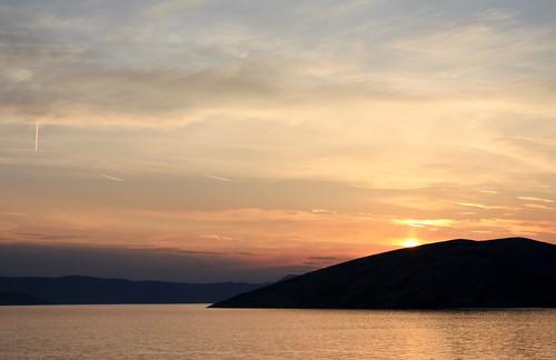croazia baska mare see spiaggia strand beach tramonto sunset alba sunrise meer sea canon450d fabriziolucchese krk veglia sonnenuntergang hrvatska kroatien croatia