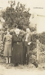 Mrs Dorothy Quinn with daughter Mary (Molly) and son Andrew (Andy), 1934