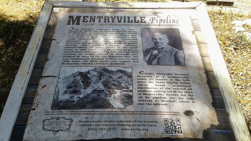 Mentryville Pipeline information at William S. Hart Park