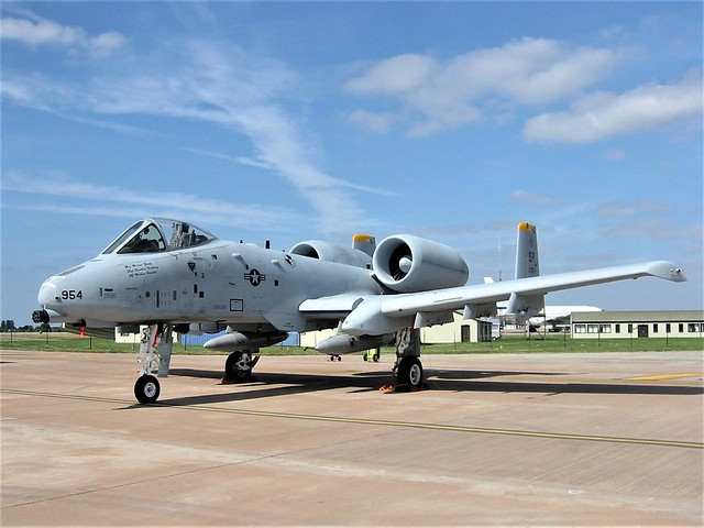 A-10A Thunderbolt-II 81-0954/SP from 81stFS/52ndFW USAFE. Photo taken at RAF Fairford, Great Britain during RIAT. 16-07-2005.