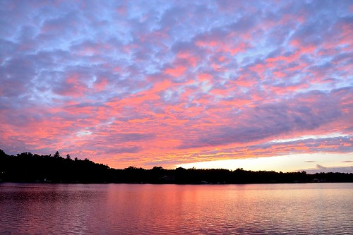 pink sunset summer sunshine weather clouds mi cloudy westlake miserable september2014