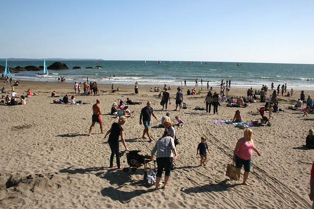 The beach at East Looe