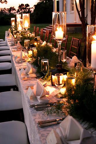 Evening Wedding Dinner, Woodlwan Farm, Ridge, MD