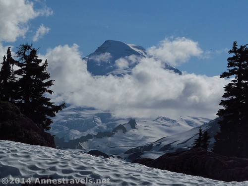A somewhat socked-in Mt. Baker from Artist Ridge, Mount Baker-Snoqualmie National Forest, Washington