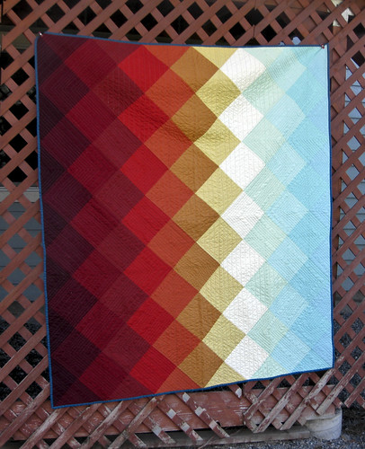 sunset west modern quilt contemporary solids hst 2016 ombré halfsquaretriangle quiltcon