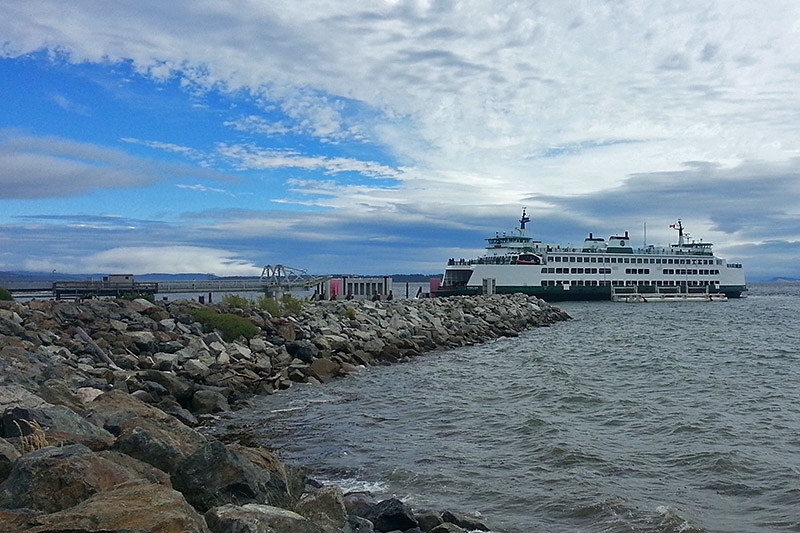 Victoria to Anacortes, Washington ferry, docked in Sidney, Greater Victoria, Vancouver Island, British Columbia
