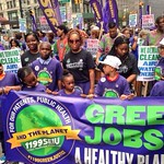 Following the meeting organised by the Trade Unions for Energy Democracy, participants joined in the People's Climate March where over 400,000 people demonstrated in the streets of New York on 21 September 2014.<br />