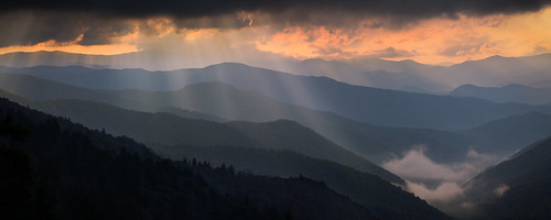 park morning mountains nature fog clouds sunrise landscape altitude great north perspective national carolina smoky wilderness viewpoint