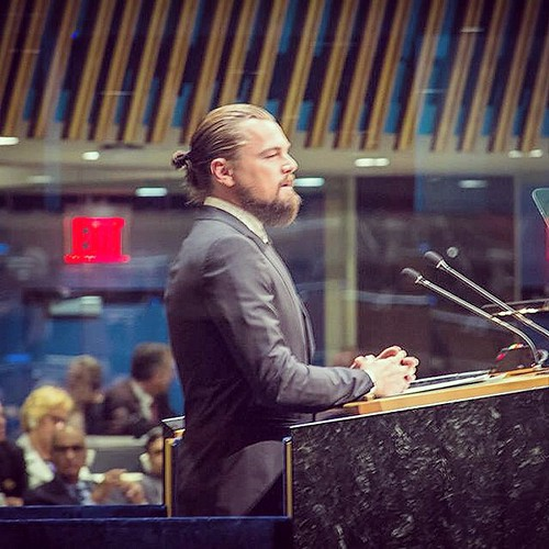 Leonardo DiCaprio addresses the UN Climate Change Summit | by john.gillespie