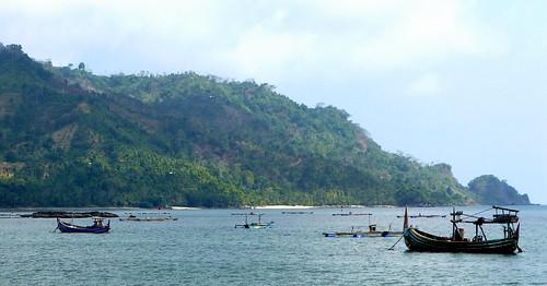 ocean sea indonesia landscape boats java