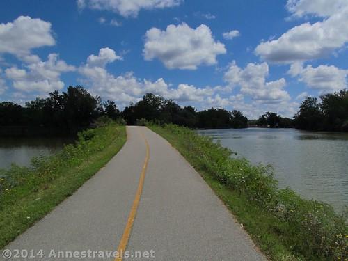 The Erie Canal near Fairport, New York
