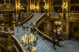 The Grand Staircase of the Palais Garnier   by IceNineJon