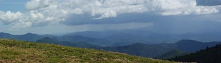 Roan Mountain (Round Bald) panorama with rain | by Dallas Krentzel