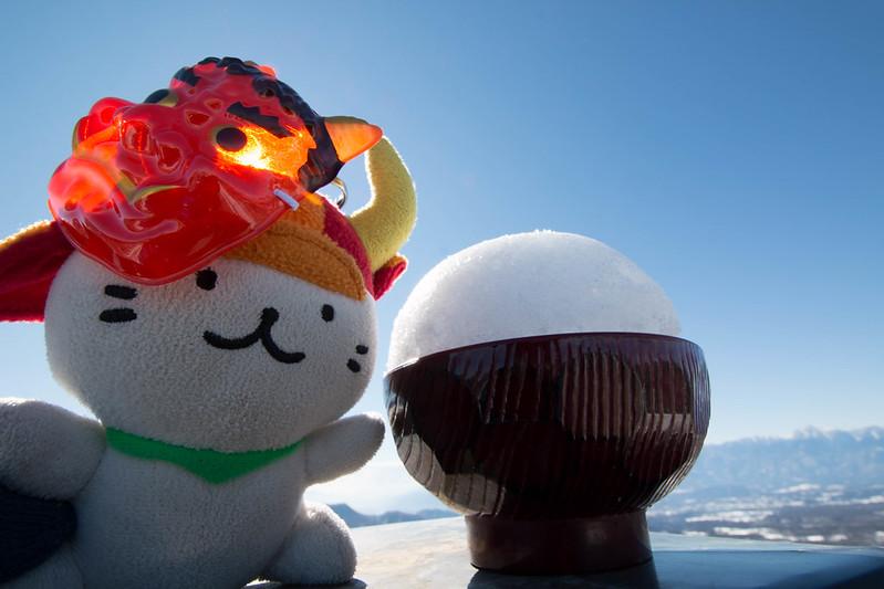 飯盛山で雪山ご飯