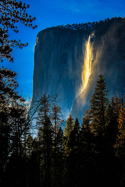 Yosemite Horsetail fire fall