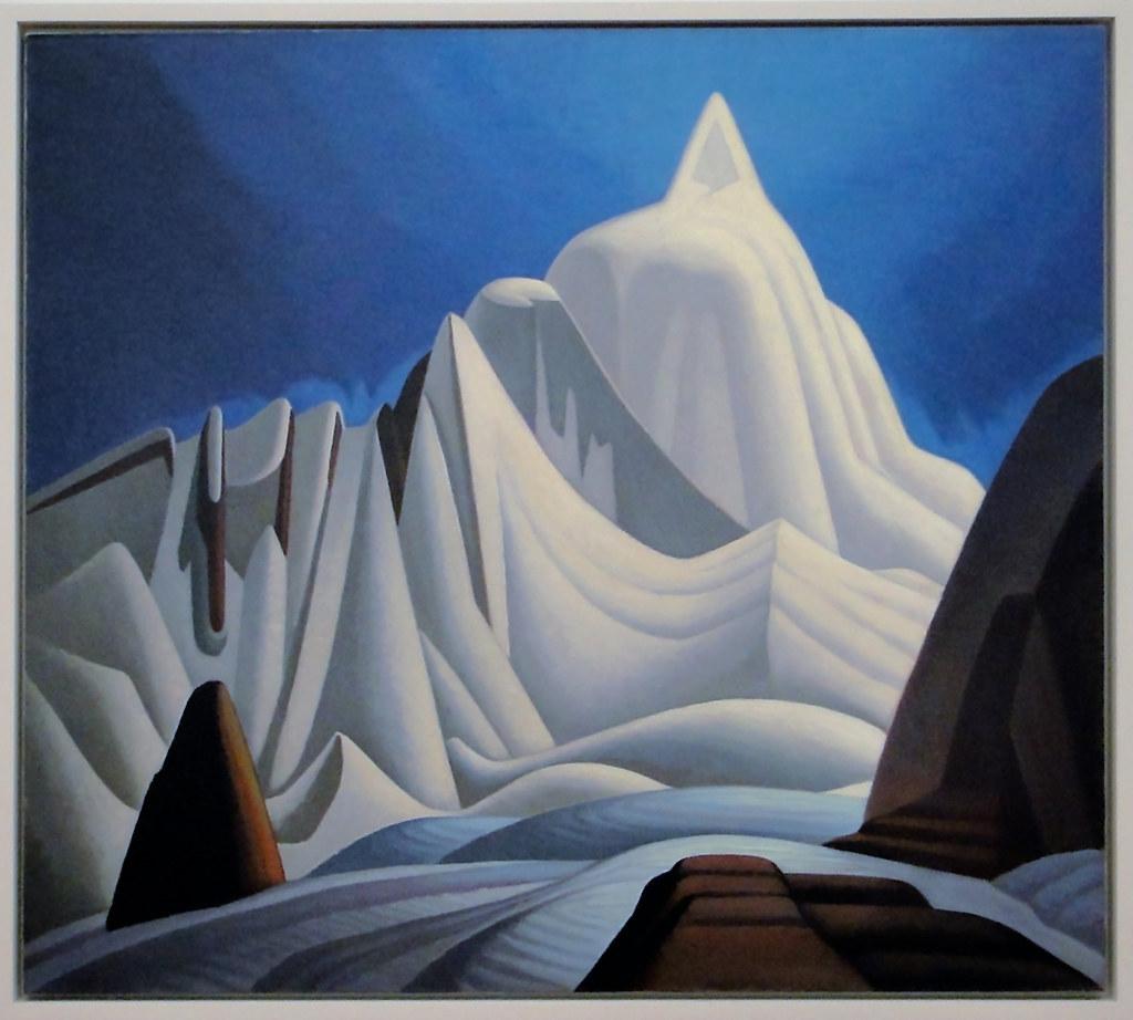 Mountains in Snow | Mountains in Snow, Rocky Mountains Paint… | Flickr
