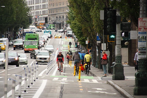 Second Avenue Protected Bike Lane | by Seattle Department of Transportation