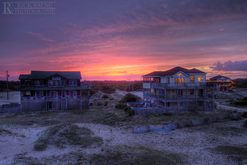 ocean pink houses homes sunset red sea sky orange cloud sun house beach home set architecture clouds landscape photography landscapes nc high sand warm dynamic dunes sandy dune north rick atlantic photograph beaches land carolina outer oceans scape outerbanks range mid hdr highdynamicrange banks obx scapes midatlantic sause ricksausephotography