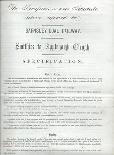 Barnsley Coal Railway Specification for construction of the railway 1866 | by ian.dinmore