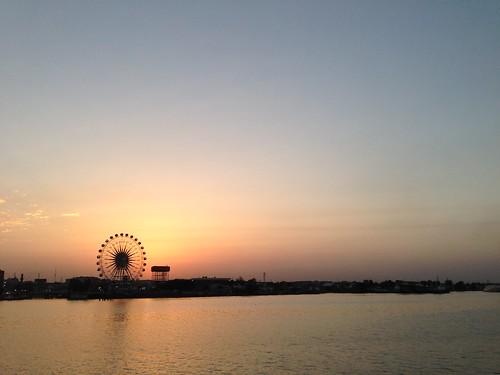 sunset night cloudy iraq partlycloudy basrah بلمعشاريbalamashari