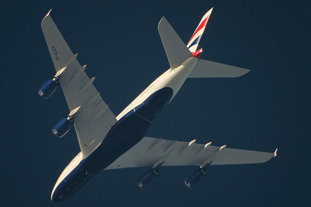 G-XLEG BAW269 A380  at 30,000ft , taken at 2400mm . 2/10/14